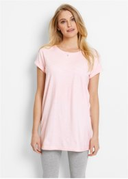 T-shirt long boxy, manches courtes, bpc bonprix collection, rose nacre