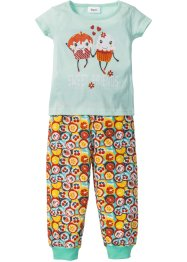 Pyjama (Ens. 2 pces.), bpc bonprix collection, menthe/multicolore imprimé