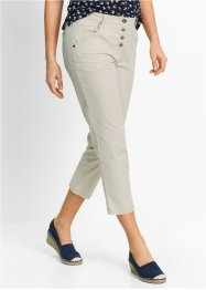 Pantalon chino 7/8 papertouch, ample, bpc bonprix collection, beige galet