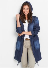 Parka en jean, bpc bonprix collection, dark bleu stone used