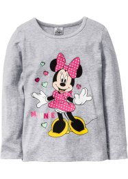 T-shirt manches longues MINNIE, Minnie Mouse, gris clair chiné MINNIE