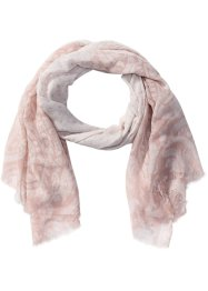 Écharpe pastel Paisley, bpc bonprix collection, rose/blanc