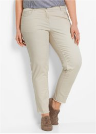 Pantalon extensible étroit 7/8 avec franges, bpc bonprix collection