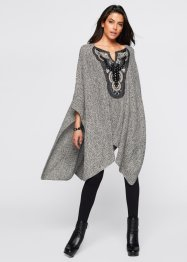 Poncho avec application bijou, BODYFLIRT boutique, gris chiné