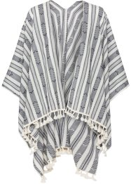 Poncho Boho, bpc bonprix collection, écru/bleu marine