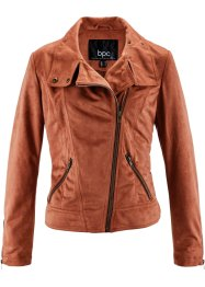 Veste en synthétique imitation cuir velours, bpc bonprix collection, cognac