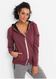 Veste sweat-shirt outdoor fonctionnelle, manches longues, bpc bonprix collection, rouge érable chiné