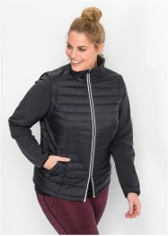 Veste outdoor 2en1 avec gilet, bpc bonprix collection, noir