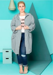 Parka fluide - designed by Maite Kelly, bpc bonprix collection, gris argent
