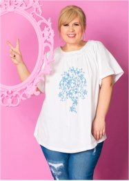 T-shirt Carmen - designed by Maite Kelly, bpc bonprix collection, blanc/bleu ciel imprimé
