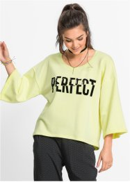 Sweat-shirt boxy, RAINBOW, sorbet citron imprimé