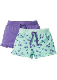 Lot de 2 shorts en jersey avec ruchés, bpc bonprix collection
