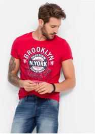 T-shirt slim fit avec imprimé, RAINBOW