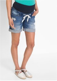 Short en jean de grossesse avec cordon, bpc bonprix collection