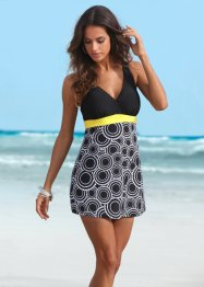 Robe de bain, bpc bonprix collection, noir/blanc