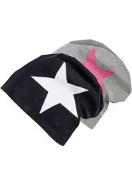 Lot de 2 beanies en jersey, bpc bonprix collection