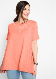 T-shirt oversize en fil flammé, manches 1/2, bpc bonprix collection