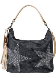 Shopper denim avec étoile en strass, bpc bonprix collection