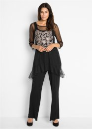 Ensemble top + T-shirt + pantalon (Ens. 3 pces.), bpc bonprix collection