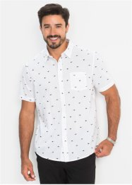 Chemise à manches courtes motif minimaliste Regular Fit, bpc bonprix collection