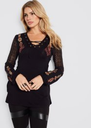 Top long avec dentelle, BODYFLIRT boutique