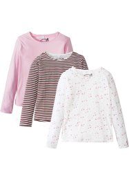 Lot de 3 T-shirts manches longues fille, bpc bonprix collection