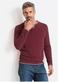 T-shirt manches longues 2en1 Regular Fit, John Baner JEANSWEAR