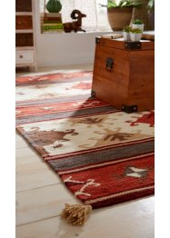 Tapis kilim avec houppes, bpc living bonprix collection