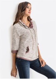 Sweat-shirt à col ample, manches longues, John Baner JEANSWEAR