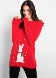 Pull en maille à motif lapin, manches longues, bpc bonprix collection