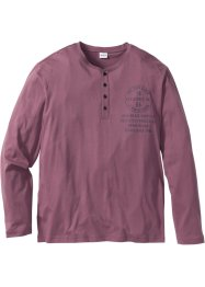 T-shirt col Henley à manches longues Regular Fit, John Baner JEANSWEAR