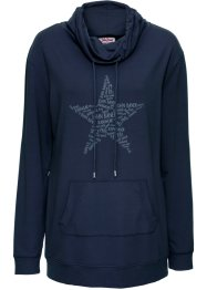 Sweat-shirt à grand col, John Baner JEANSWEAR