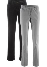 Lot de 2 pantalons extensibles, bpc bonprix collection