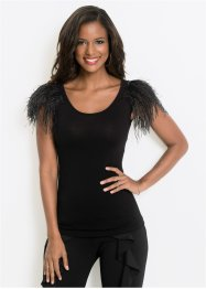 Top avec applications de plumes, BODYFLIRT boutique