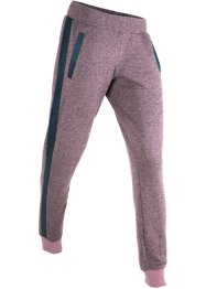 Pantalon sweat avec détails en synthétique imitation cuir, long, bpc bonprix collection