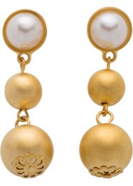 Boucles d'oreilles 3 perles, bpc bonprix collection