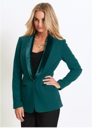 Blazer avec revers en velours, bpc selection