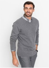 Pull col en V fine maille Regular Fit, bpc selection