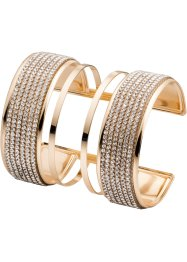 Bracelet manchette avec strass, bpc bonprix collection