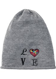 Bonnet en maille Love, bpc bonprix collection