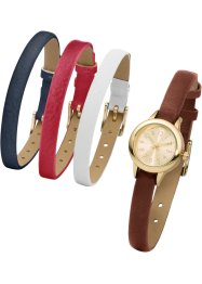 Montre avec 4 bracelets interchangeables, bpc bonprix collection