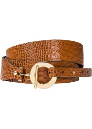 Ceinture en cuir embossé motif animal, bpc bonprix collection