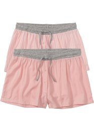 Lot de 2 shorts tissés, bpc bonprix collection