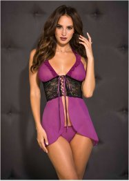 Nuisette babydoll + string (Ens. 2 pces.)