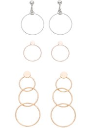 3 paires de boucles d'oreilles, bpc bonprix collection