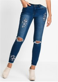 Jean Super Skinny avec broderie florale, RAINBOW