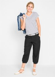 Pantalon en lin 3/4, Loose-Fit, bpc bonprix collection