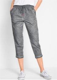 Pantalon 3/4 avec cordon contrastant, bpc bonprix collection