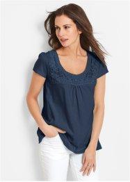 02e53c351c59 T-shirt coton  agrave  dentelle
