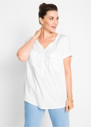 Blouse en viscose à manches courtes, bpc bonprix collection